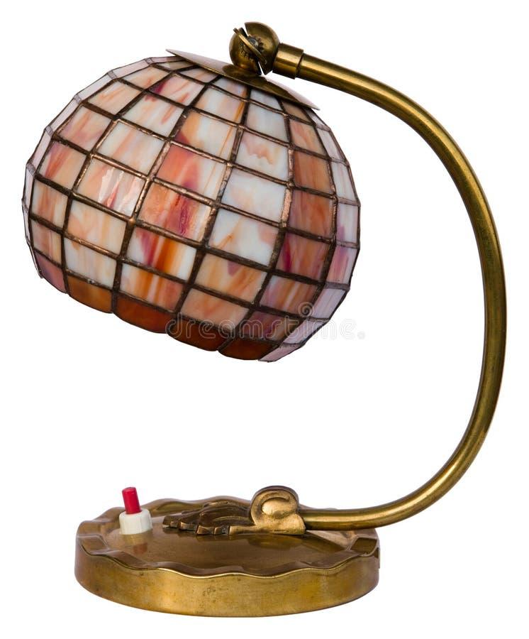 запятнанный светильник изолированный стеклом стоковое фото