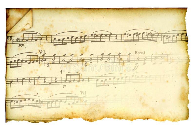 Запятнанный Antique счет нот стоковая фотография rf