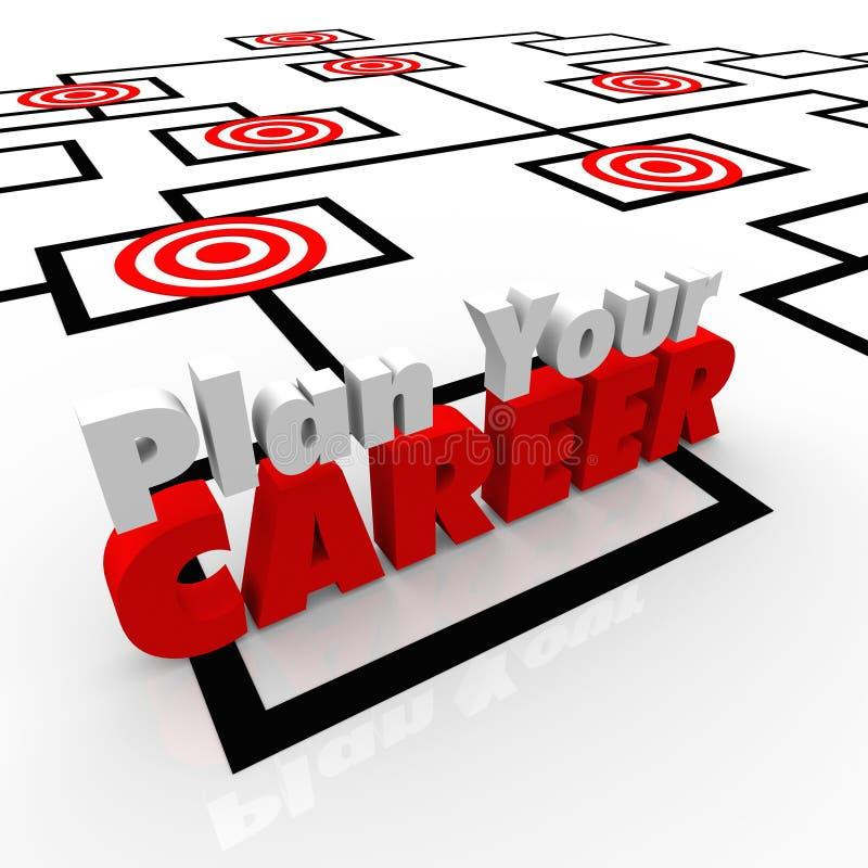 Запланируйте ваши работы Org прицеленных положений карьеры прицеленные диаграммой бесплатная иллюстрация