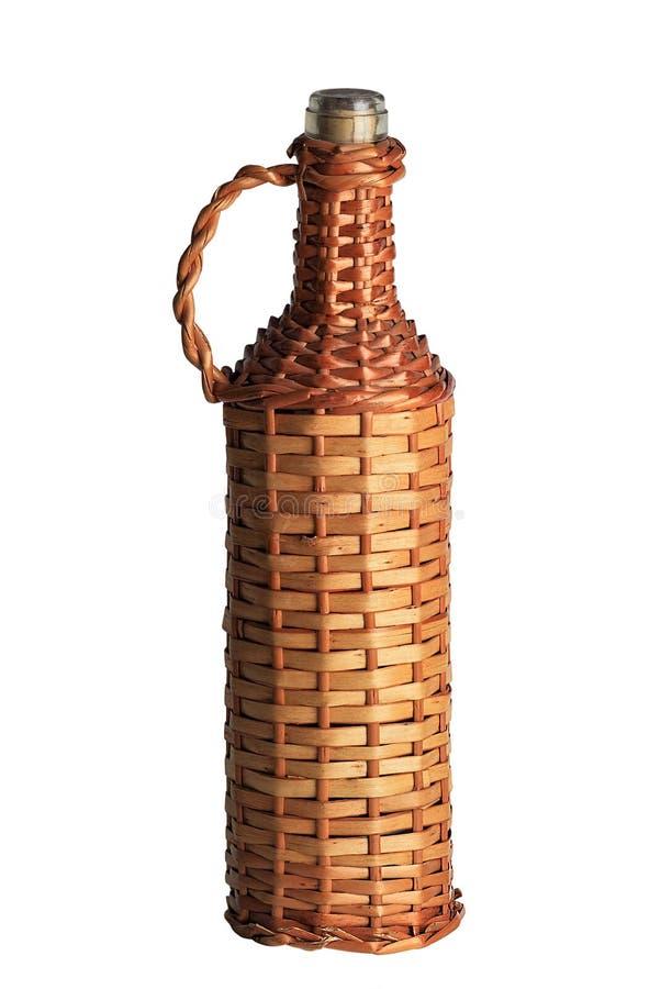 Заплетенная бутылка вина стоковые изображения rf