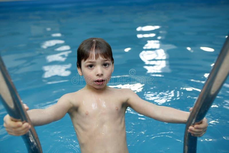 заплывание бассеина 5 мальчиков стоковые фотографии rf