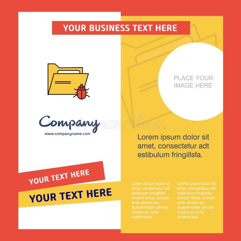 Зараженный шаблон брошюры компании папки Шаблон Busienss вектора бесплатная иллюстрация