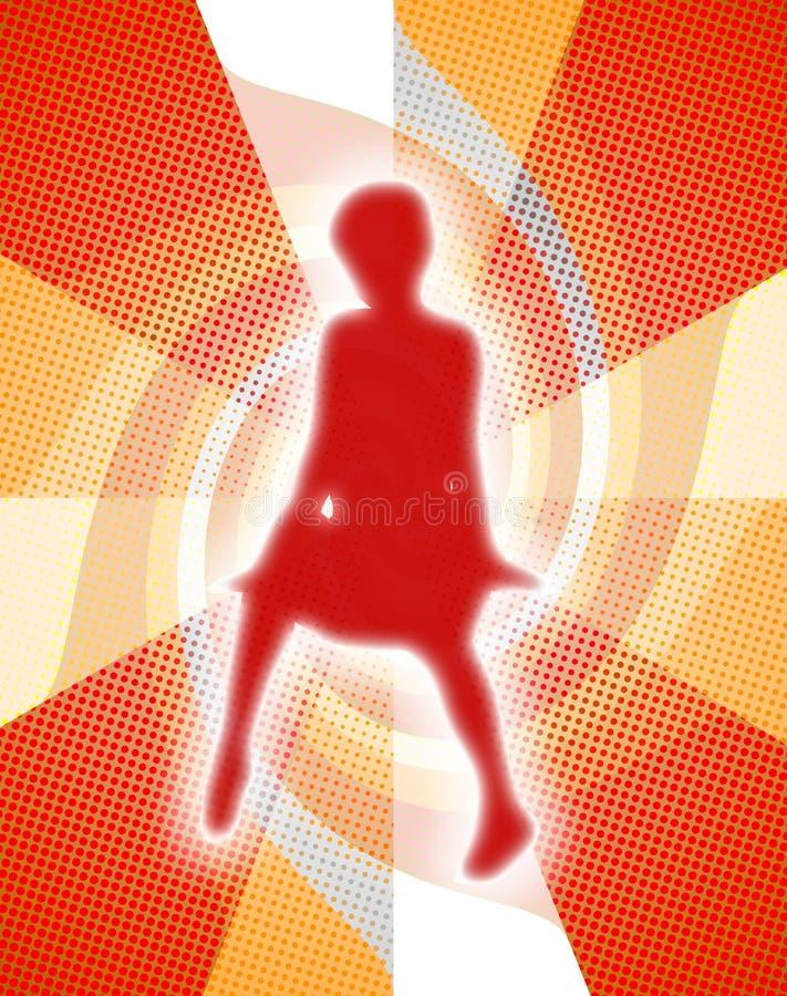 Зарево девушки бесплатная иллюстрация