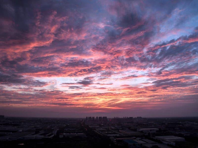 Зарево захода солнца стоковое фото rf