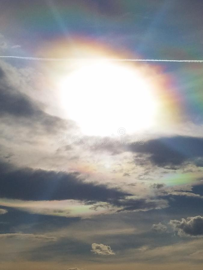 Зарево неба стоковое фото rf
