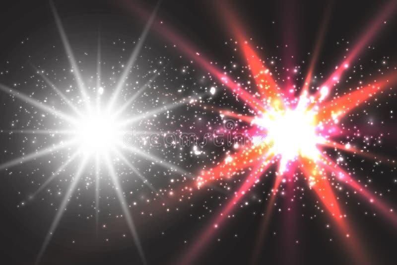 Зарево светового эффекта Звезда блеснула sequins абстрактный космос предпосылки бесплатная иллюстрация