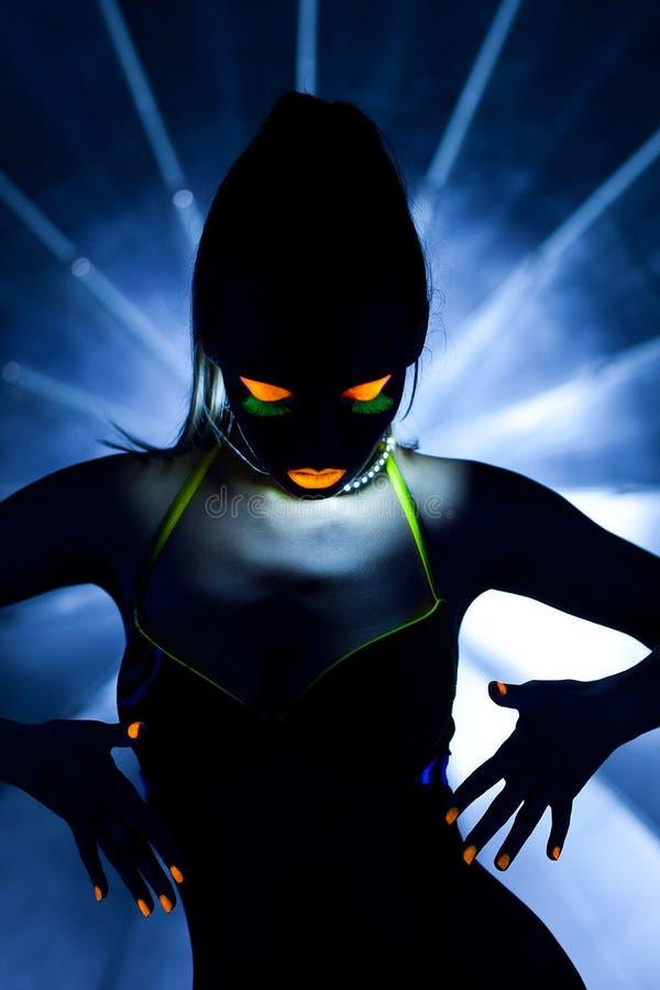зарево танцульки красотки составляет женщину стоковые изображения rf