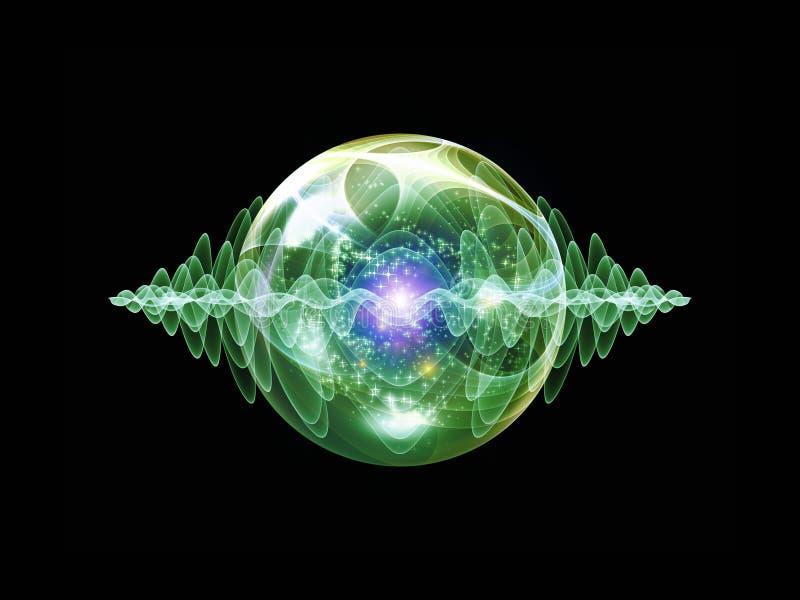 Зарево частицы волны бесплатная иллюстрация