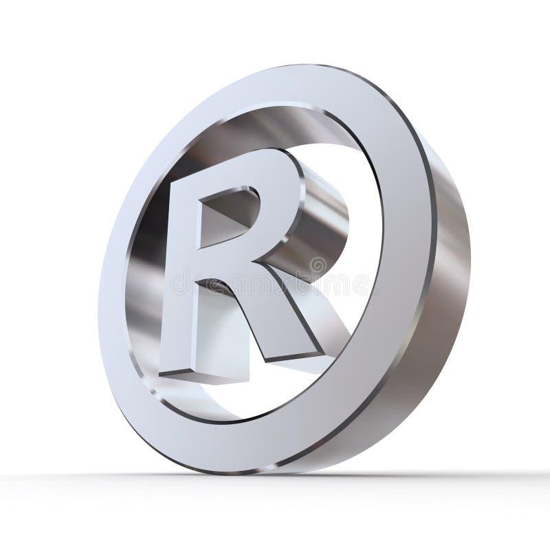зарегистрированный глянцеватый товарный знак символа иллюстрация штока