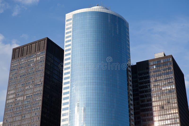 заречье финансовохозяйственный manhattan зданий стоковые изображения