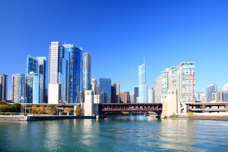 заречье chicago финансовохозяйственное стоковое изображение