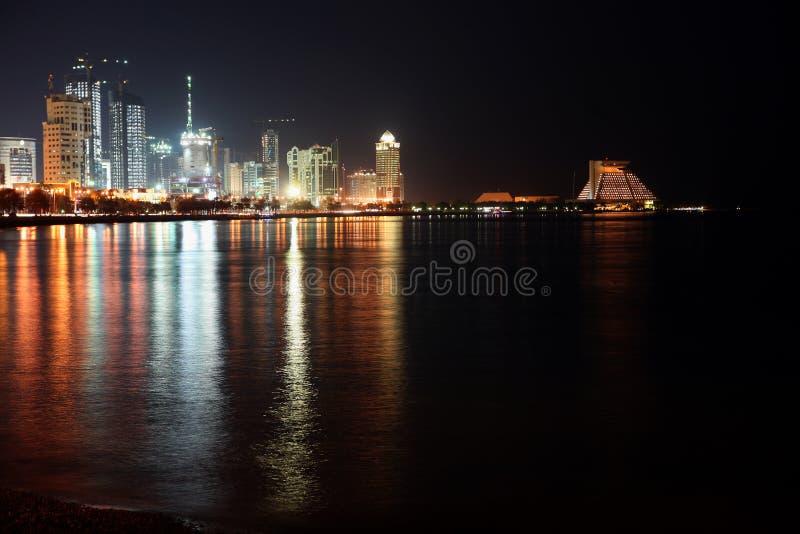 заречье doha залива новый стоковые фотографии rf