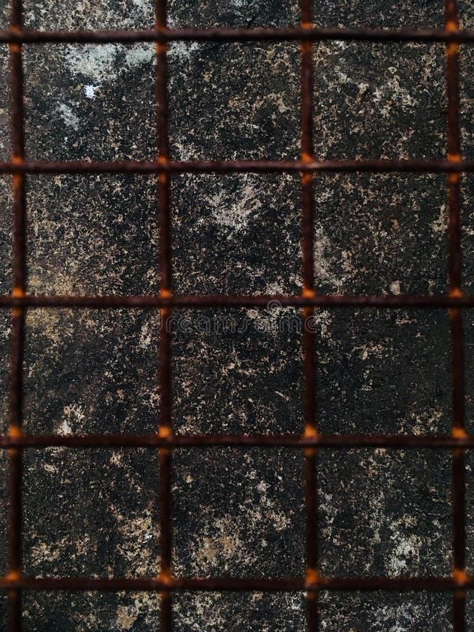 Заржаветые стальные пруты стоковое изображение