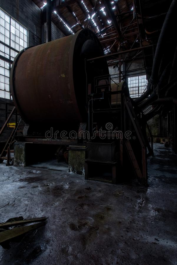 Заржаветые Tumblers утеса - Залив Заявлять Утюжить Компания не 7 шахта - горы Adirondack, Нью-Йорк стоковое фото