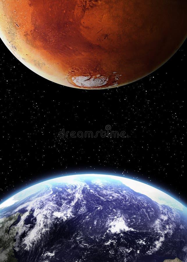 Заройте и повредите в космосе бесплатная иллюстрация