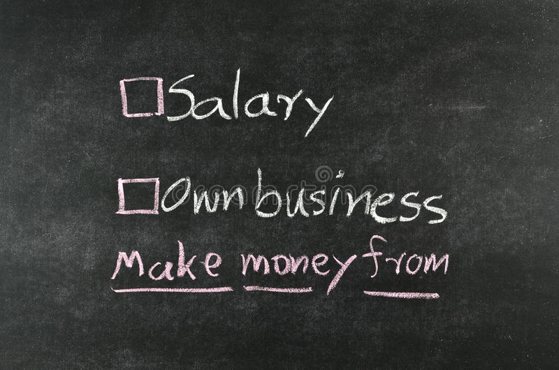 Зарплата или иметь дело стоковые фото