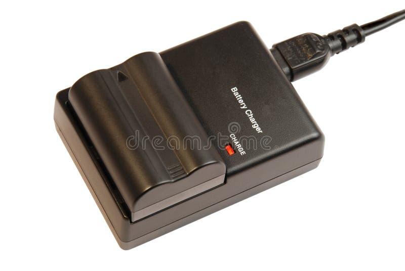 заряжатель камеры батареи стоковое изображение rf