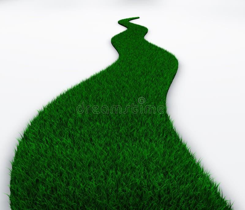 Засевайте замотка травой пути в расстояние иллюстрация вектора