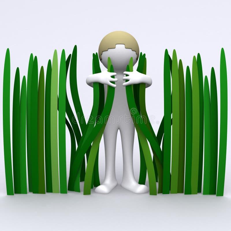 засевайте hugger травой бесплатная иллюстрация