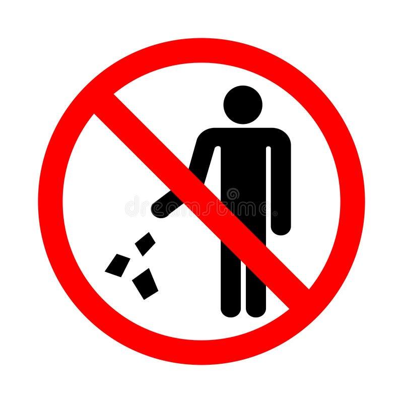 засоряйте не знак бесплатная иллюстрация