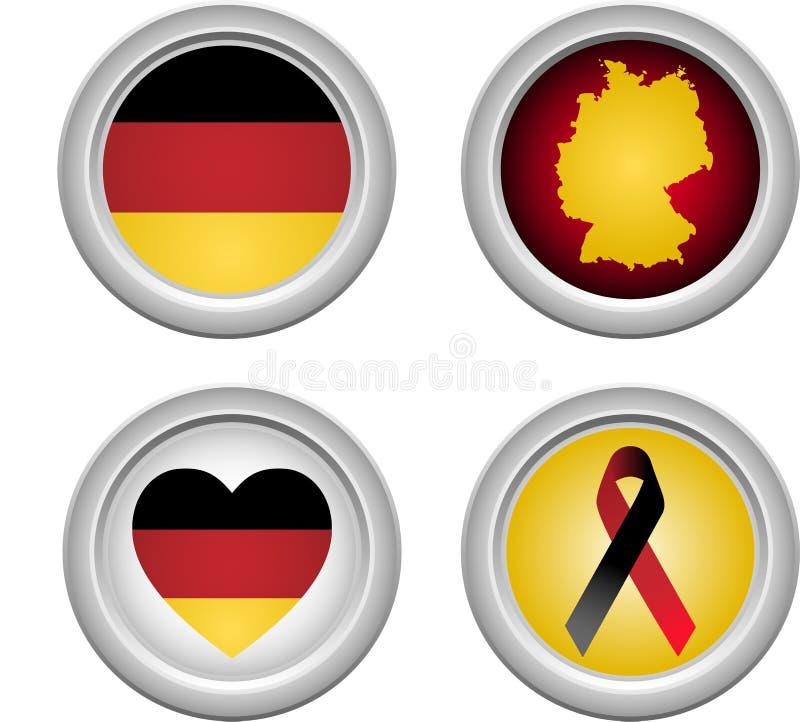застегивает Германию иллюстрация штока