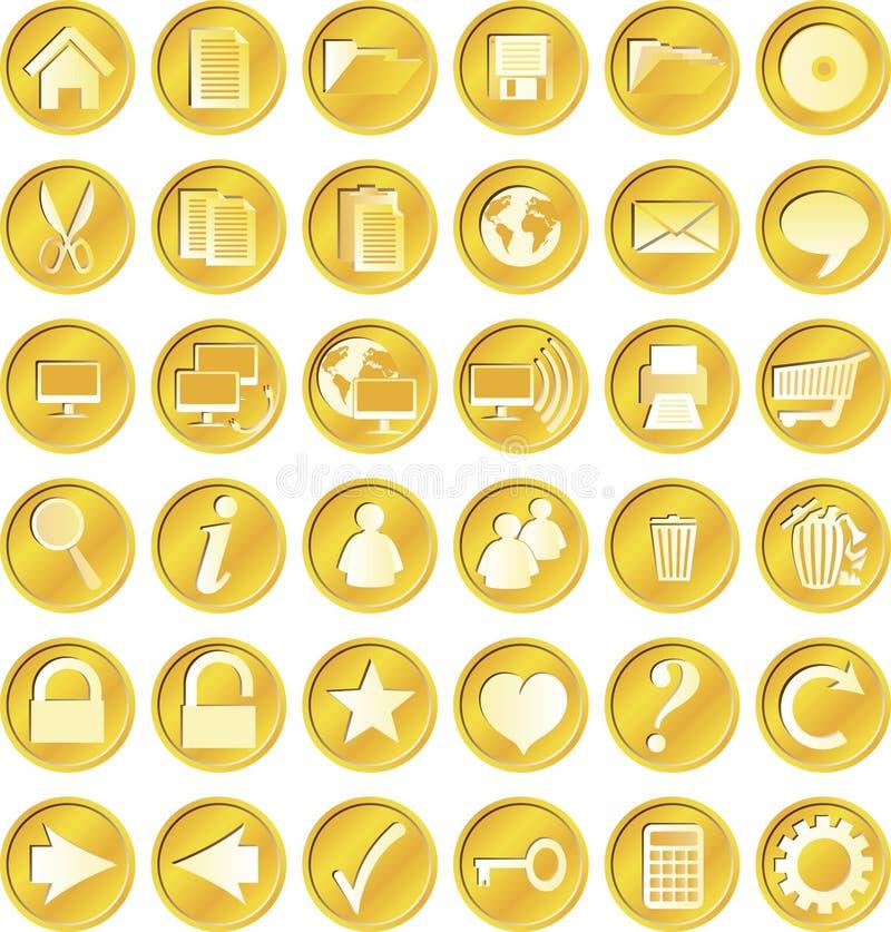 застегивает золотистый круг бесплатная иллюстрация