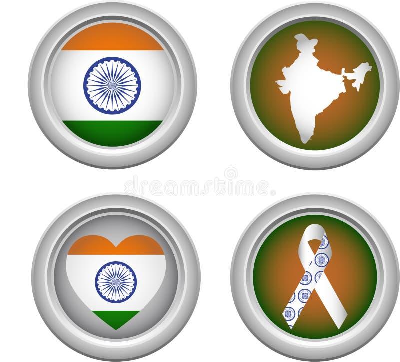 застегивает Индию бесплатная иллюстрация