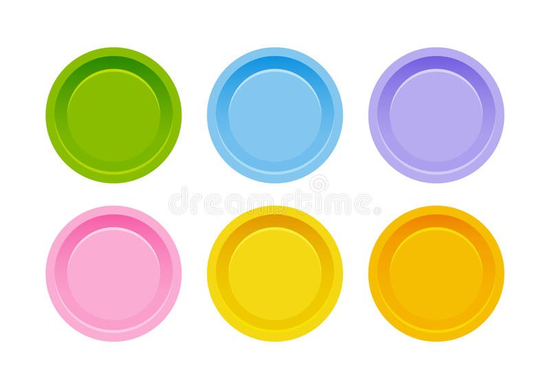 застегивает комплект цвета иллюстрация вектора
