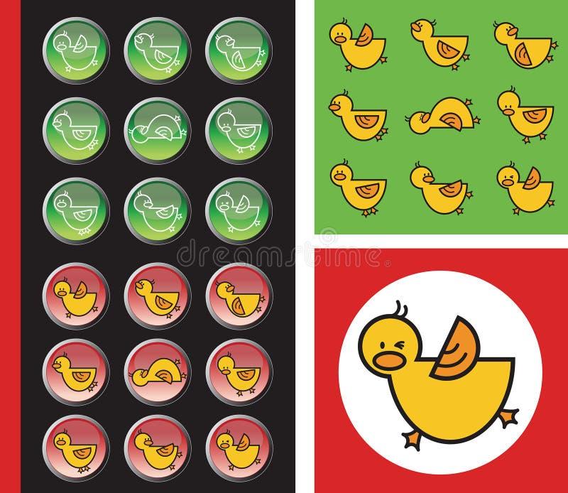 застегивает красный цвет duckies зеленый бесплатная иллюстрация