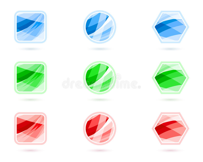 застегивает кристалл иллюстрация вектора