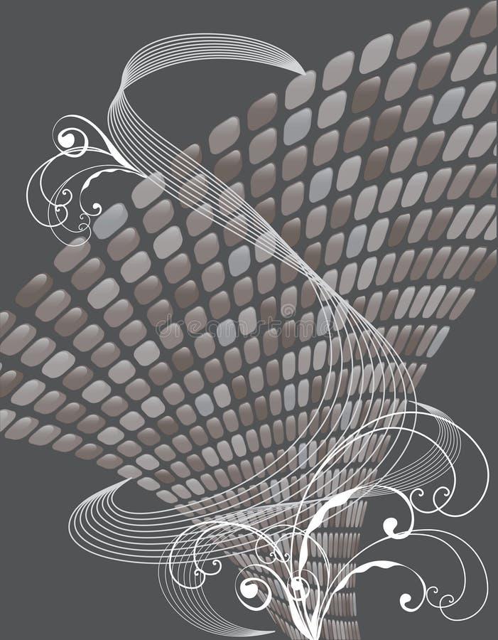 застегивает лоснистые нейтральные свирли бесплатная иллюстрация