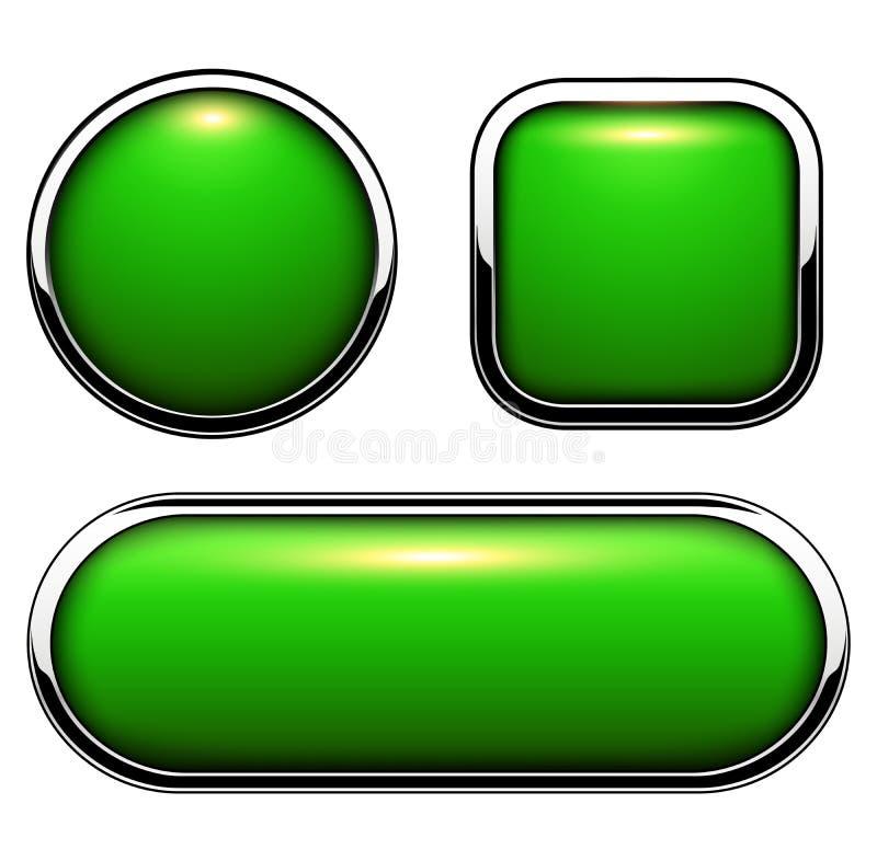застегивает лоснистый зеленый цвет бесплатная иллюстрация
