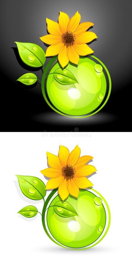 застегивает солнцецвет eco иллюстрация вектора