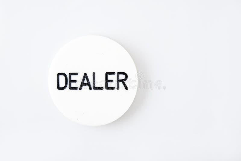 застегните покер игры торговца белой стоковые изображения