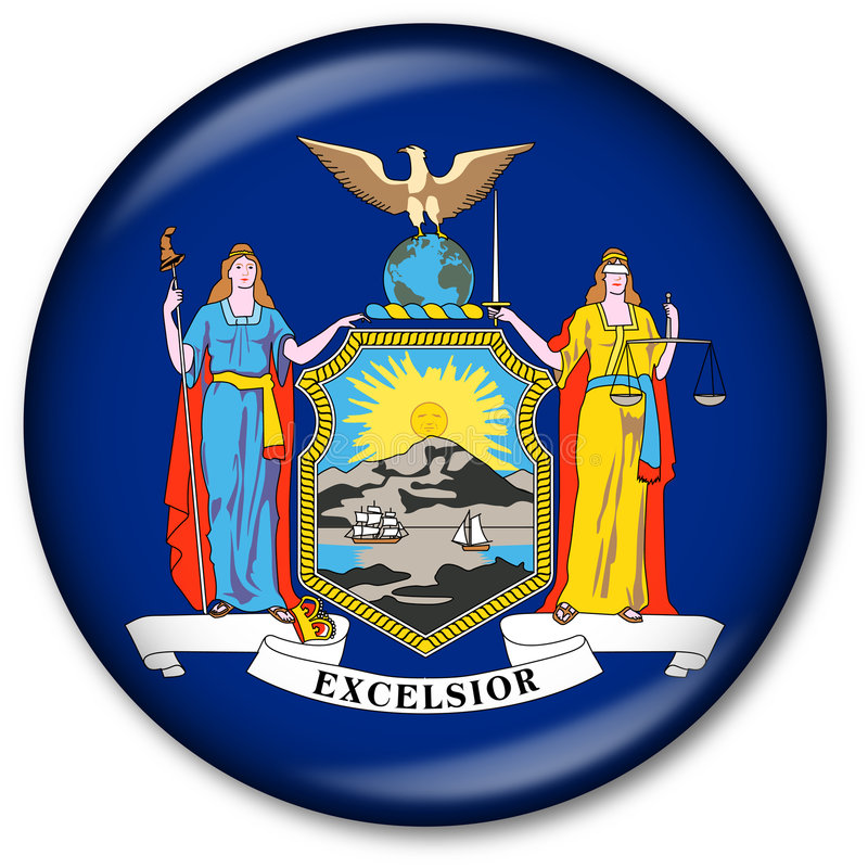 застегните положение york флага новое стоковая фотография