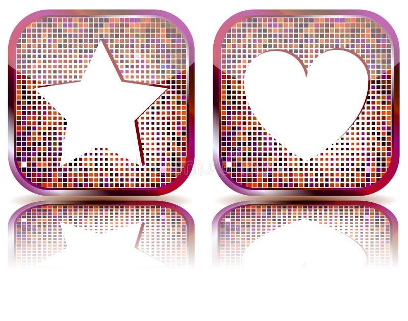 застегните сеть иконы фаворитов лоснистую бесплатная иллюстрация