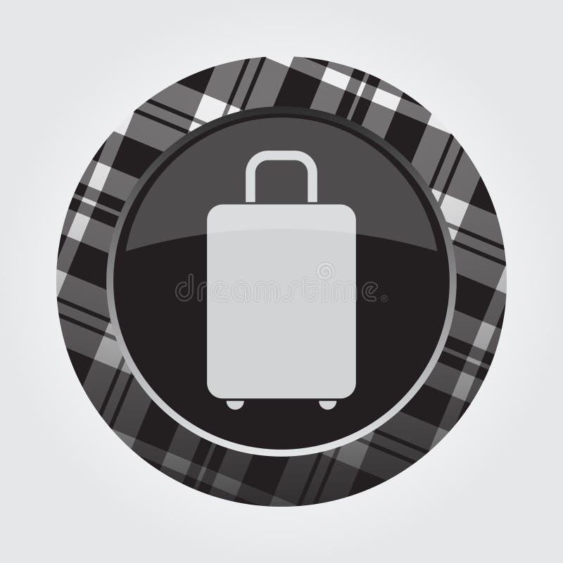 Застегните с белым, черным тартаном - значком чемодана бесплатная иллюстрация