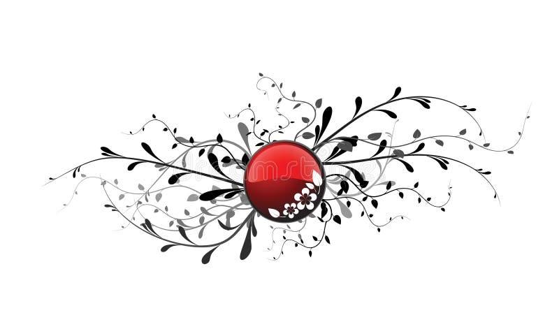 застегните флористический красный цвет иллюстрация вектора