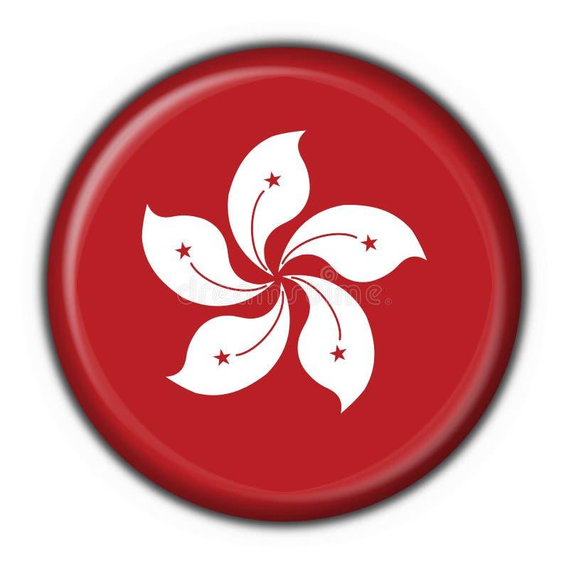 застегните форму Hong Kong флага круглую иллюстрация штока