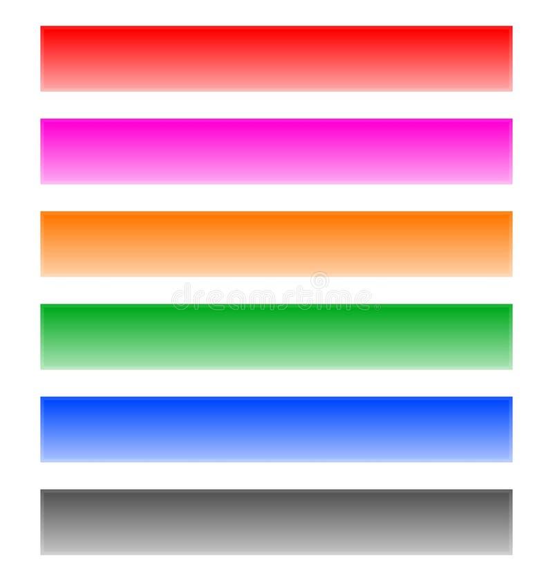Застегните, элементы дизайна формы бара знамени в цвете 6 иллюстрация вектора