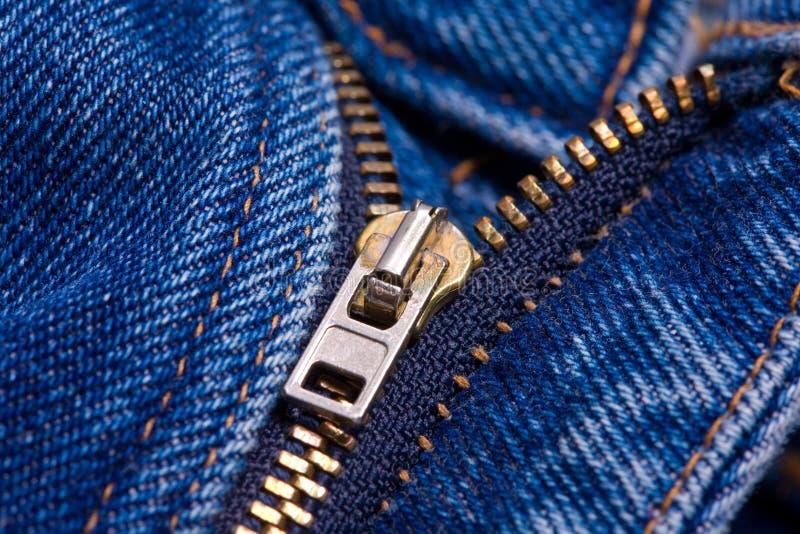 застежка -молния голубых джинсов стоковое изображение