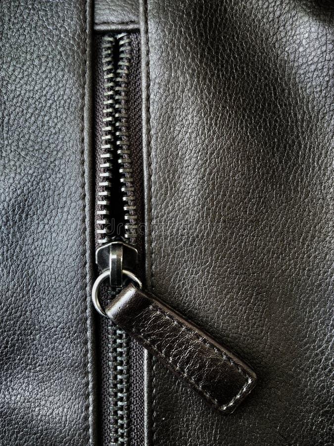 Застежка-молния кожаной сумки стоковые фотографии rf