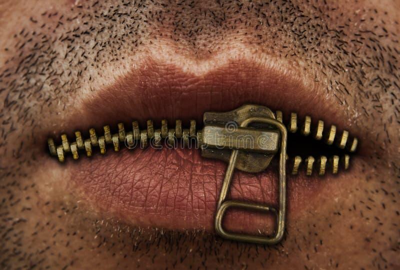 застежка -молния рта стоковая фотография