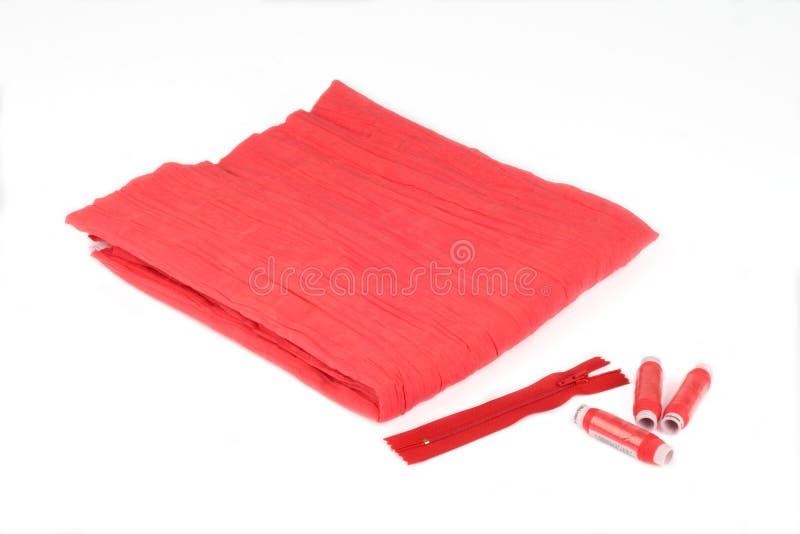 застежка -молния sewings ткани стоковое фото