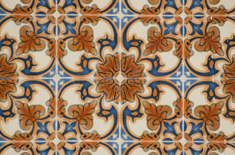 застекленные португальские плитки традиционные стоковая фотография