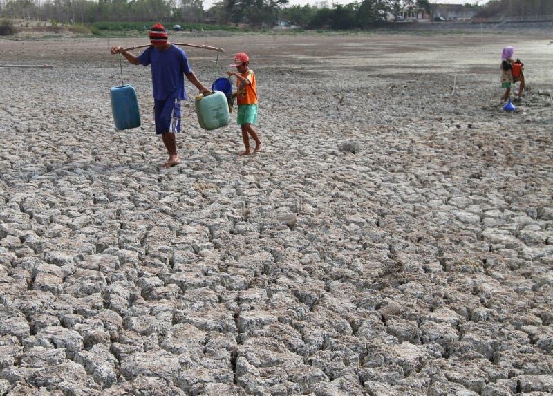 Засуха в Индонезии стоковое изображение