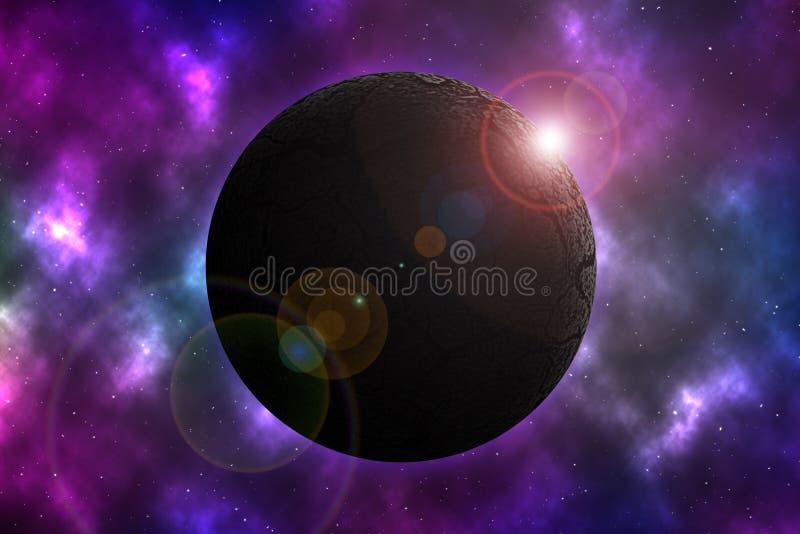 Засушливая планета на космосе бесплатная иллюстрация