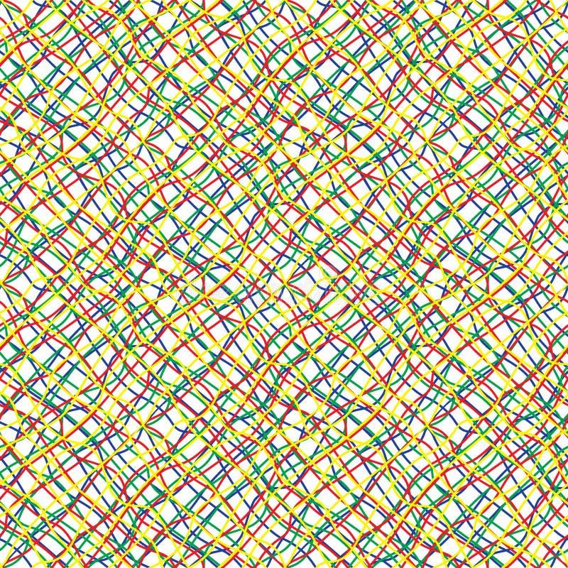 Затейливая покрашенная картина проводов безшовная иллюстрация штока