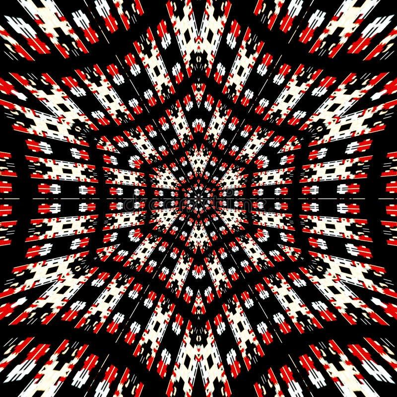 Затейливая шестиугольная мандала с светлой фильтруя арабеской бесплатная иллюстрация