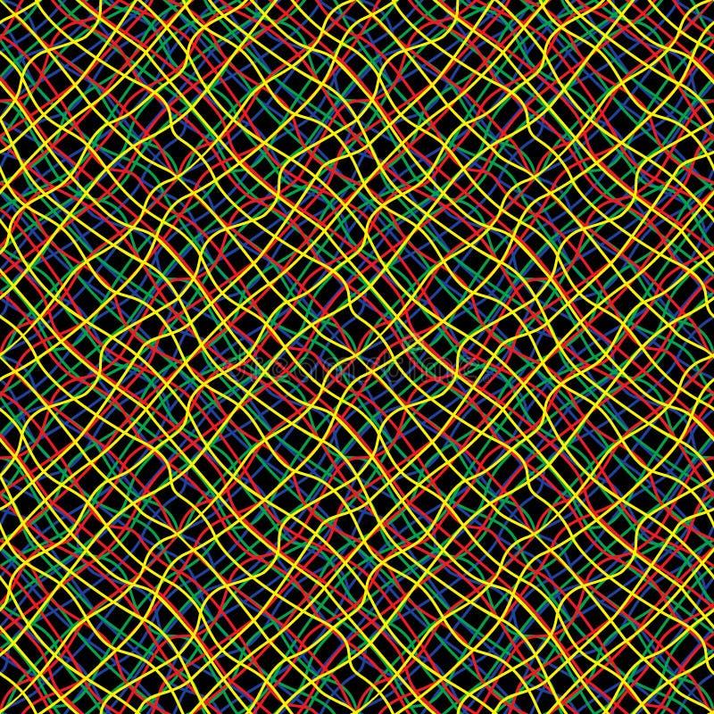 Затейливая покрашенная картина конспекта проводов безшовная бесплатная иллюстрация